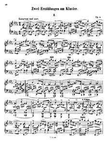 Zwei Erzählungen, Op.5: Für Klavier by Xaver Scharwenka