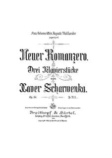 Neuer Romanzero, Op.64: Neuer Romanzero by Xaver Scharwenka
