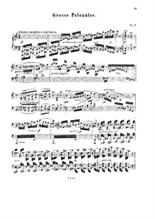 Grand Polonaise, Op.7: Grand Polonaise by Xaver Scharwenka