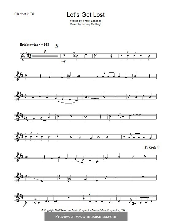 Let's Get Lost (Chet Baker): For clarinet by Jimmy McHugh