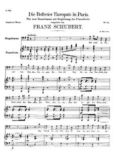 Die Befreier Europa's in Paris (The Liberators of Europe in Paris), D.104: G Major by Franz Schubert