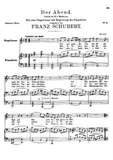 Der Abend (The Evening), D.108: D minor by Franz Schubert