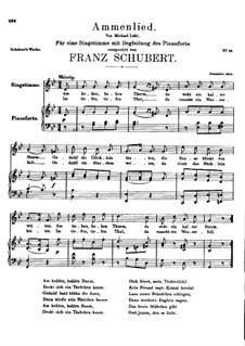 Ammenlied (The Nurse's Song), D.122: G minor by Franz Schubert