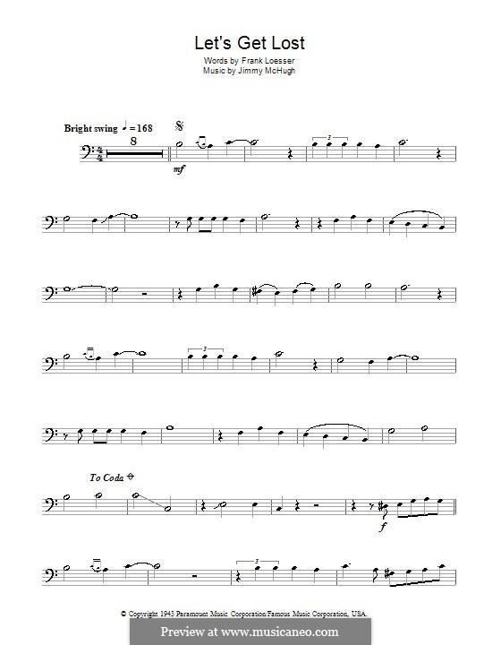 Let's Get Lost (Chet Baker): For trombone by Jimmy McHugh