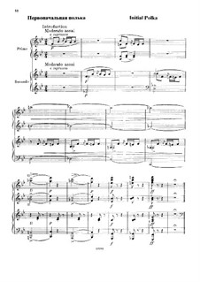 Initial Polka for Piano Four Hands: Initial Polka for Piano Four Hands by Mikhail Glinka