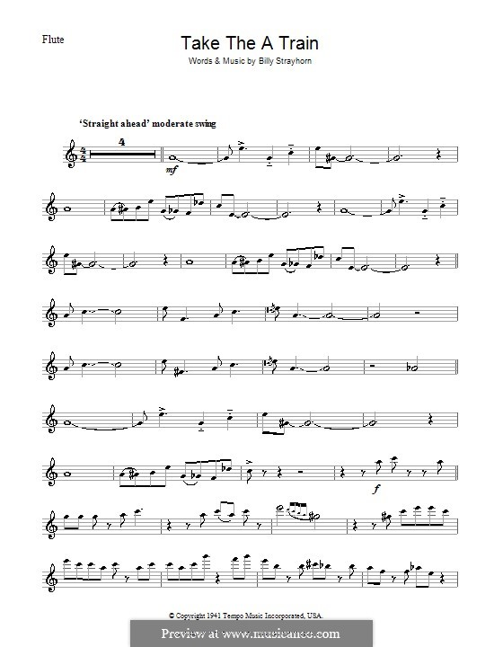 Take the 'A' Train (Duke Ellington): For flute by Billy Strayhorn