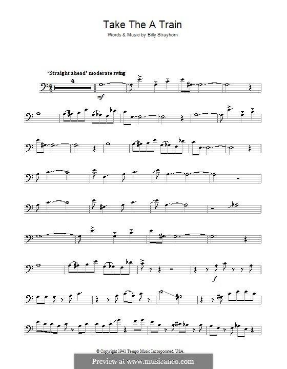 Take the 'A' Train (Duke Ellington): For trombone by Billy Strayhorn
