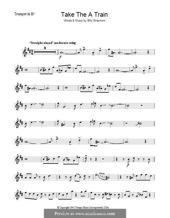 Take the 'A' Train (Duke Ellington): For trumpet by Billy Strayhorn