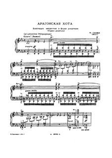 Jota Aragonese: For piano by Mikhail Glinka