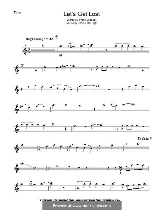 Let's Get Lost (Chet Baker): For flute by Jimmy McHugh