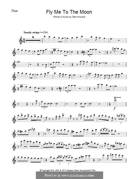 Fly Me to the Moon (In Other Words): For flute (Julie London) by Bart Howard