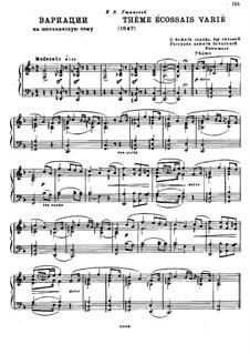 Variations on Scottish Theme: Variations on Scottish Theme by Mikhail Glinka
