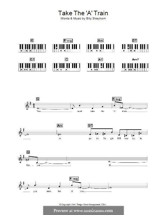 Take the 'A' Train (Duke Ellington): For keyboard by Billy Strayhorn