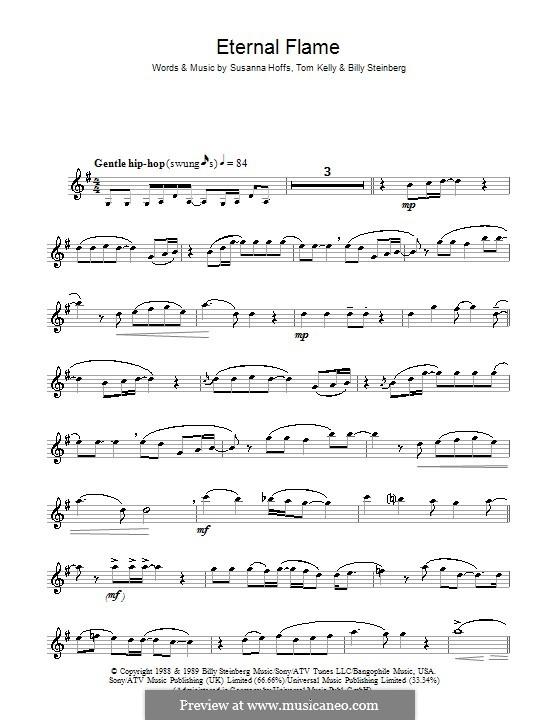 Eternal Flame: For flute by Billy Steinberg, Susanna Hoffs, Tom Kelly