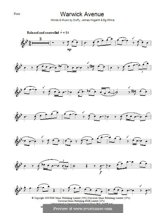 Warwick Avenue (Duffy): For flute by Jimmy Hogarth, Aimee Duffy, Eg White