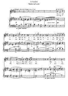 Sento nel core: Piano-vocal score by Alessandro Scarlatti