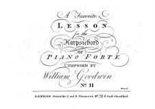 Sonata for Piano No.2 in C Major: Sonata for Piano No.2 in C Major by William Goodwin