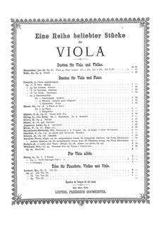 Impromptu and Romance for Viola and Piano: Impromptu and Romance for Viola and Piano by Ludwig Goring