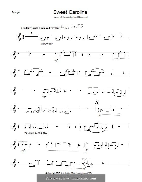 Sweet Caroline: For trumpet by Neil Diamond