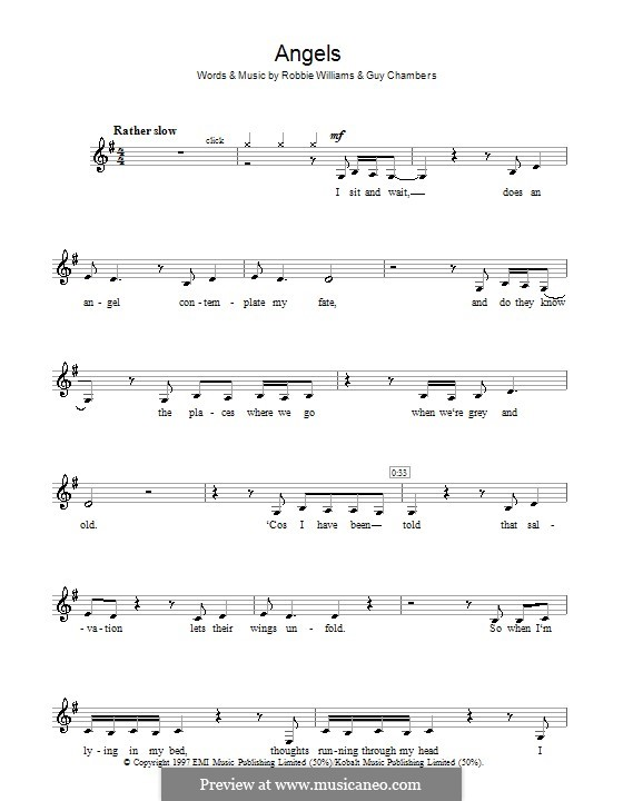 Angels: For clarinet by Guy Chambers, Robbie Williams