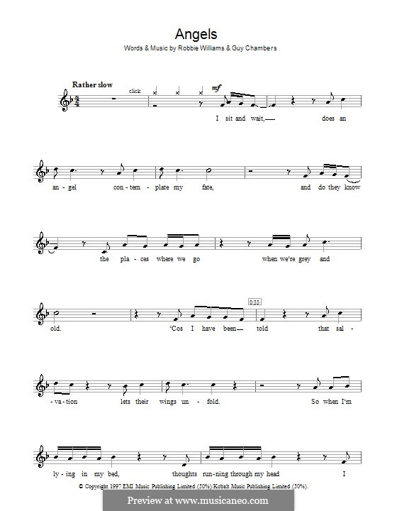 Angels: For flute by Guy Chambers, Robbie Williams
