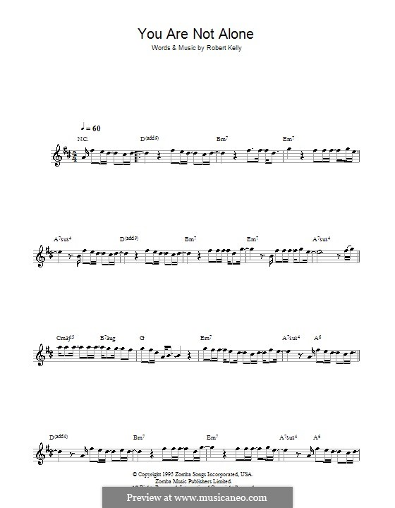 You Are Not Alone (Michael Jackson): For flute by Robert Kelly