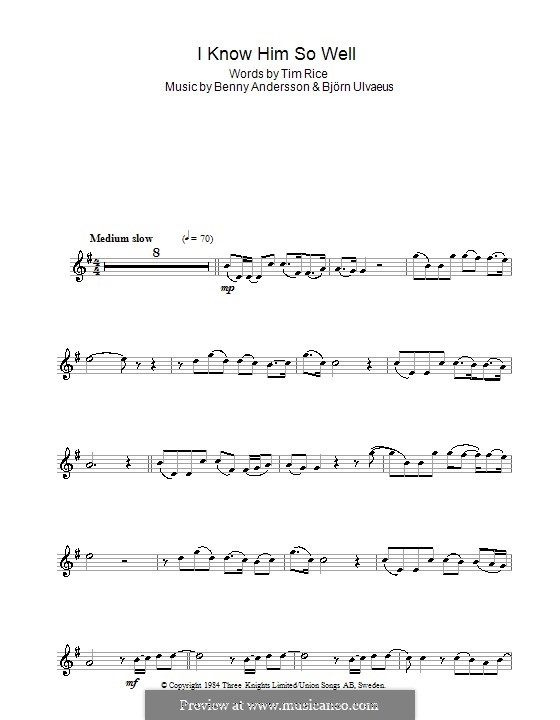 i know him so well sheet music pdf