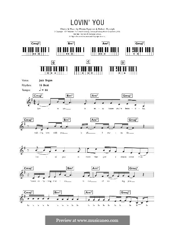 Lovin' You: For keyboard by Minnie Riperton, Richard Rudolph