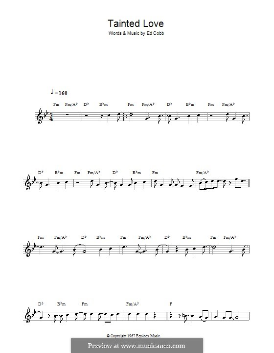 Tainted Love (Marc Almond & Soft Cell): For clarinet by Ed Cobb
