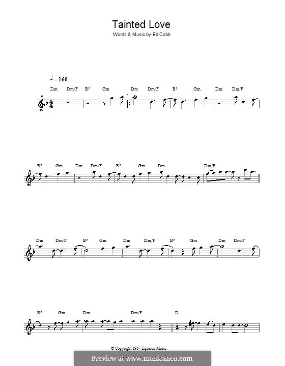 Tainted Love (Marc Almond & Soft Cell): For flute by Ed Cobb