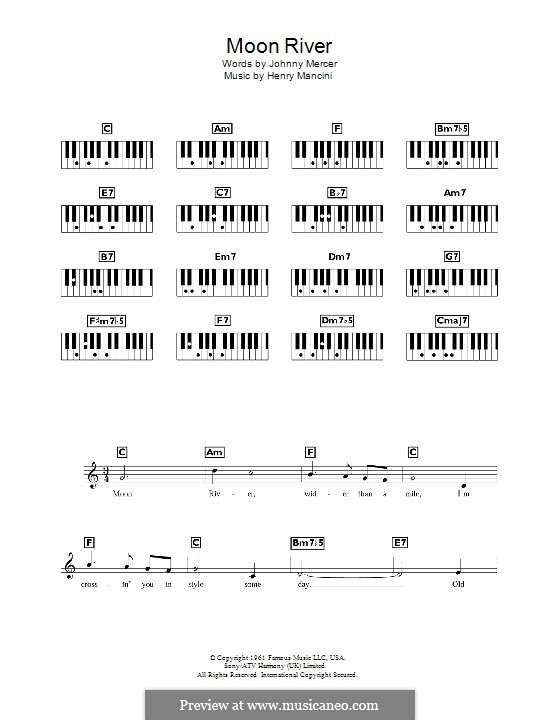 Moon River (from Breakfast at Tiffany's): For keyboard by Henry Mancini