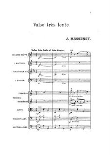 Valse très lente: Valse très lente by Jules Massenet
