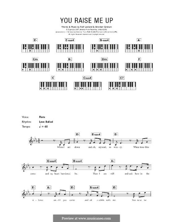You Raise Me Up: For keyboard by Brendan Graham, Rolf Løvland