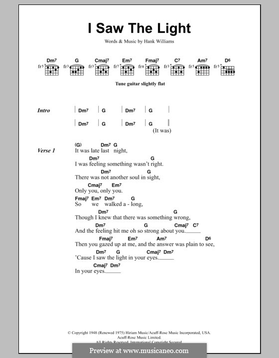 I Saw the Light by T. Rundgren - sheet music on MusicaNeo
