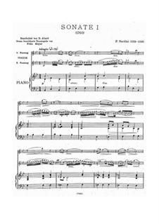 Sonata for Violin (or Viola) and Basso Continuo in B Flat Major: Arrangement for violin and piano by Pietro Nardini