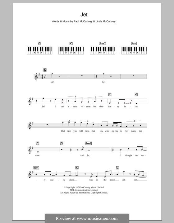 Jet (Wings): For keyboard by Linda McCartney, Paul McCartney