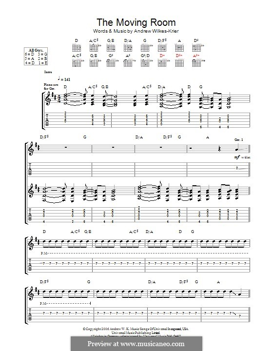 The Moving Room: For guitar with tab by Andrew Wilkes Krier