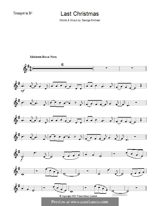 Last Christmas (Wham!): For trumpet by George Michael