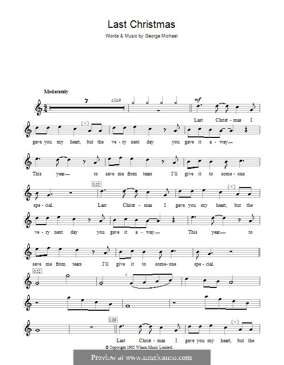 Last Christmas (Wham!): For recorder by George Michael