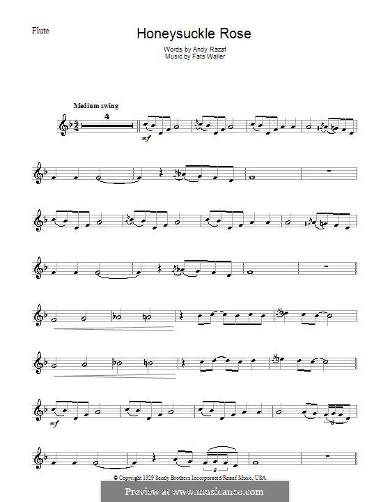 Honeysuckle Rose: For flute by Fats Waller