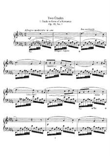 Two Etudes, Op.18: For piano by Ethelbert Woodbridge Nevin