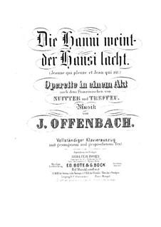 Jeanne qui pleure et Jean qui rit: Piano-vocal score by Jacques Offenbach