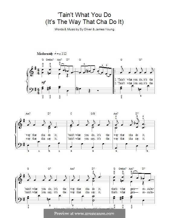 'Tain't What You Do (It's The Way That Cha Do It): For piano by James Young, Sy Oliver
