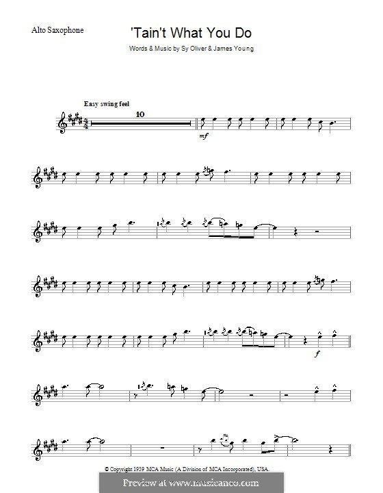 'Tain't What You Do (It's The Way That Cha Do It): For alto saxophone by James Young, Sy Oliver