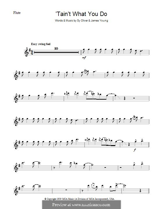 'Tain't What You Do (It's The Way That Cha Do It): For flute by James Young, Sy Oliver