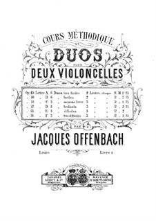 Duos for Two Cellos, Op.49: Duos No.4-6 – parts by Jacques Offenbach