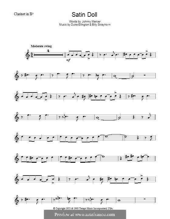 Satin Doll: For clarinet by Billy Strayhorn, Duke Ellington