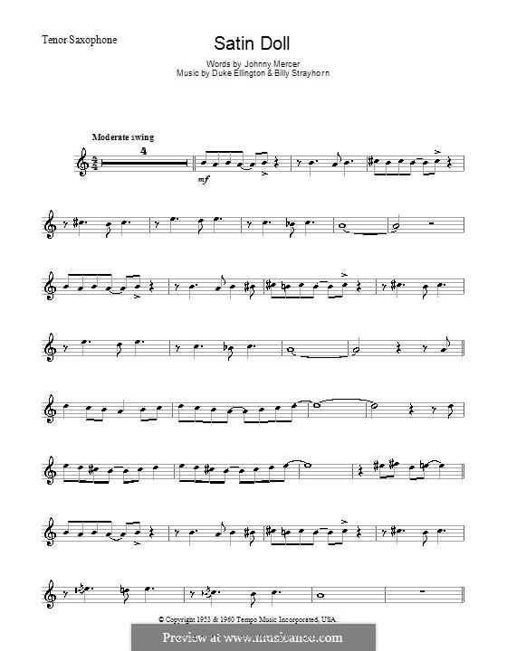Satin Doll: For tenor saxophone by Billy Strayhorn, Duke Ellington