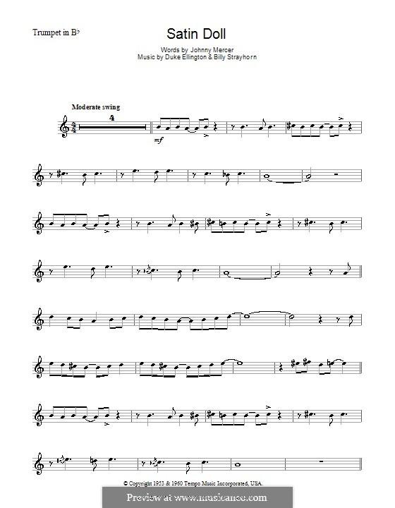 Satin Doll: For trumpet by Billy Strayhorn, Duke Ellington