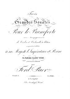 Grand Sonata for Piano, Violin and Cello No.1 in B Flat Major: Grand Sonata for Piano, Violin and Cello No.1 in B Flat Major by Ferdinando Paer